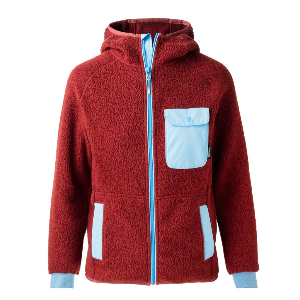 Cubre Full-Zip Fleece Jacket - Women's, Brick/Sky, Front