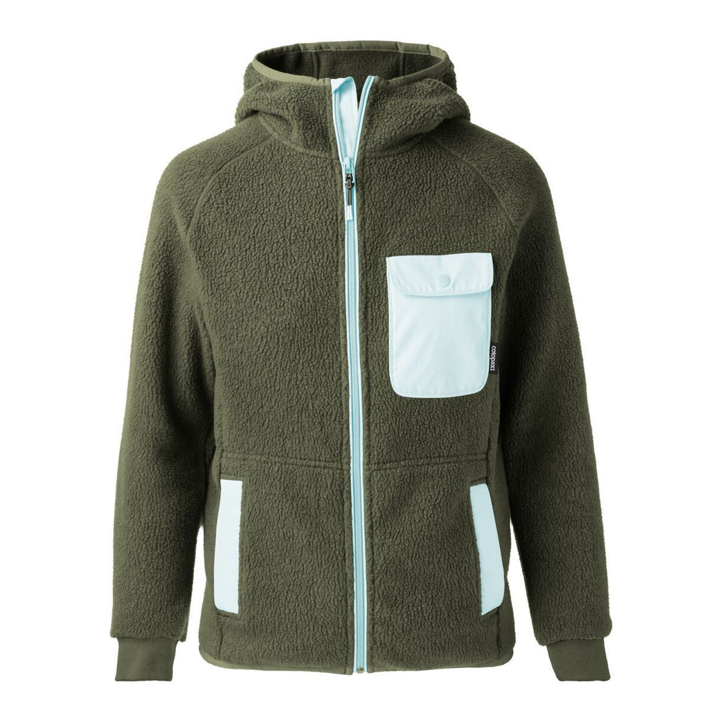 Cubre Full-Zip Fleece Jacket - Women's, Cargo/Aqua, Front