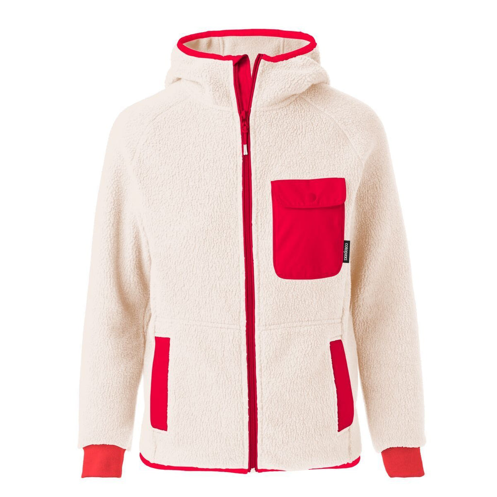 Cubre Full-Zip Fleece Jacket - Women's, Cream/Fiery Red, Front