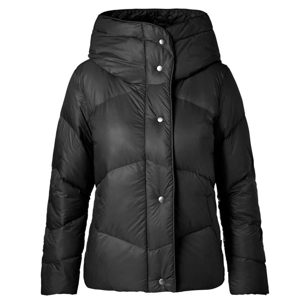 Nina Crop Down Jacket - Women's, Black, Front