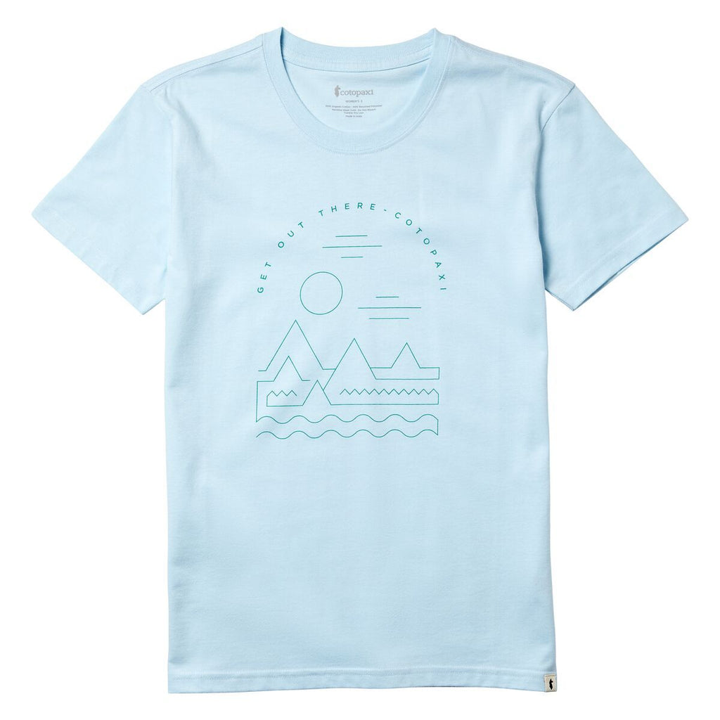 Get Out There Landscape T-Shirt - Women's, Icicle, Front