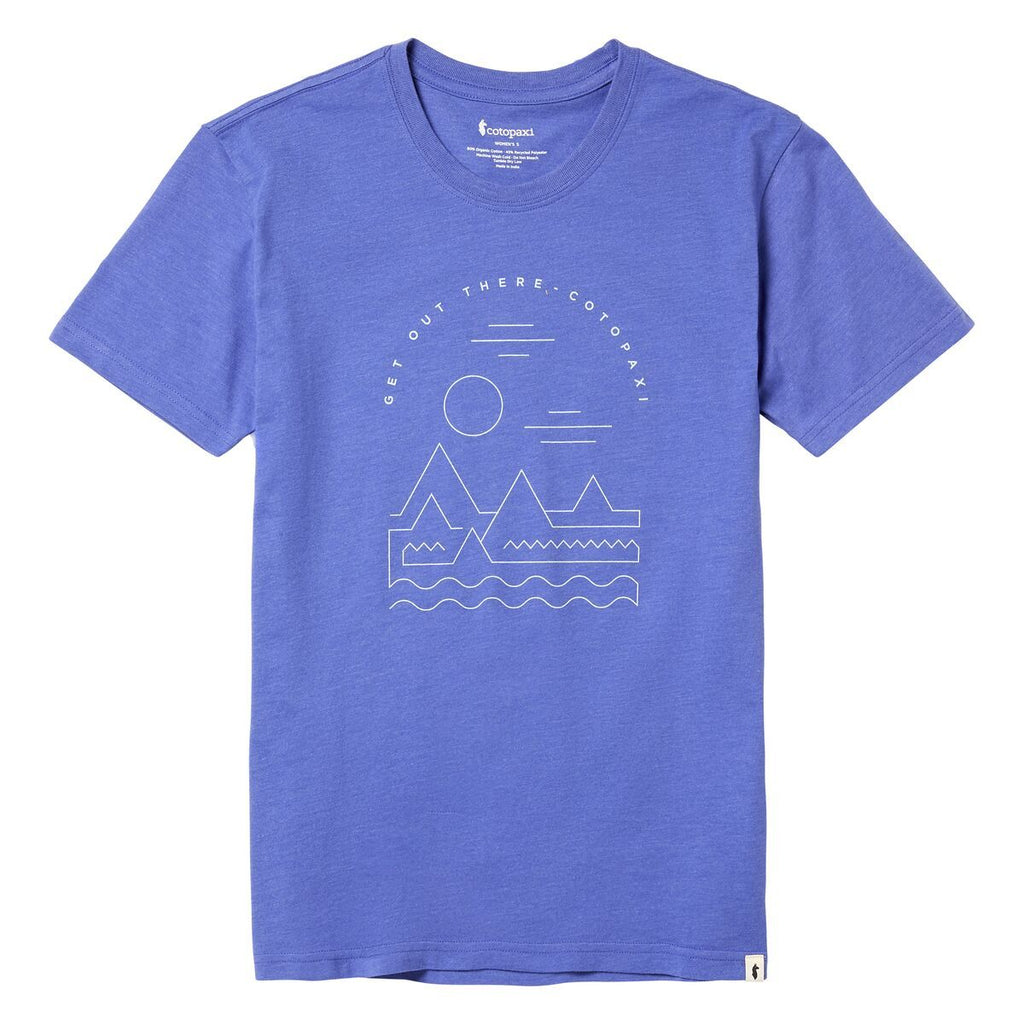Get Out There Landscape T-Shirt - Women's, Iris, Front