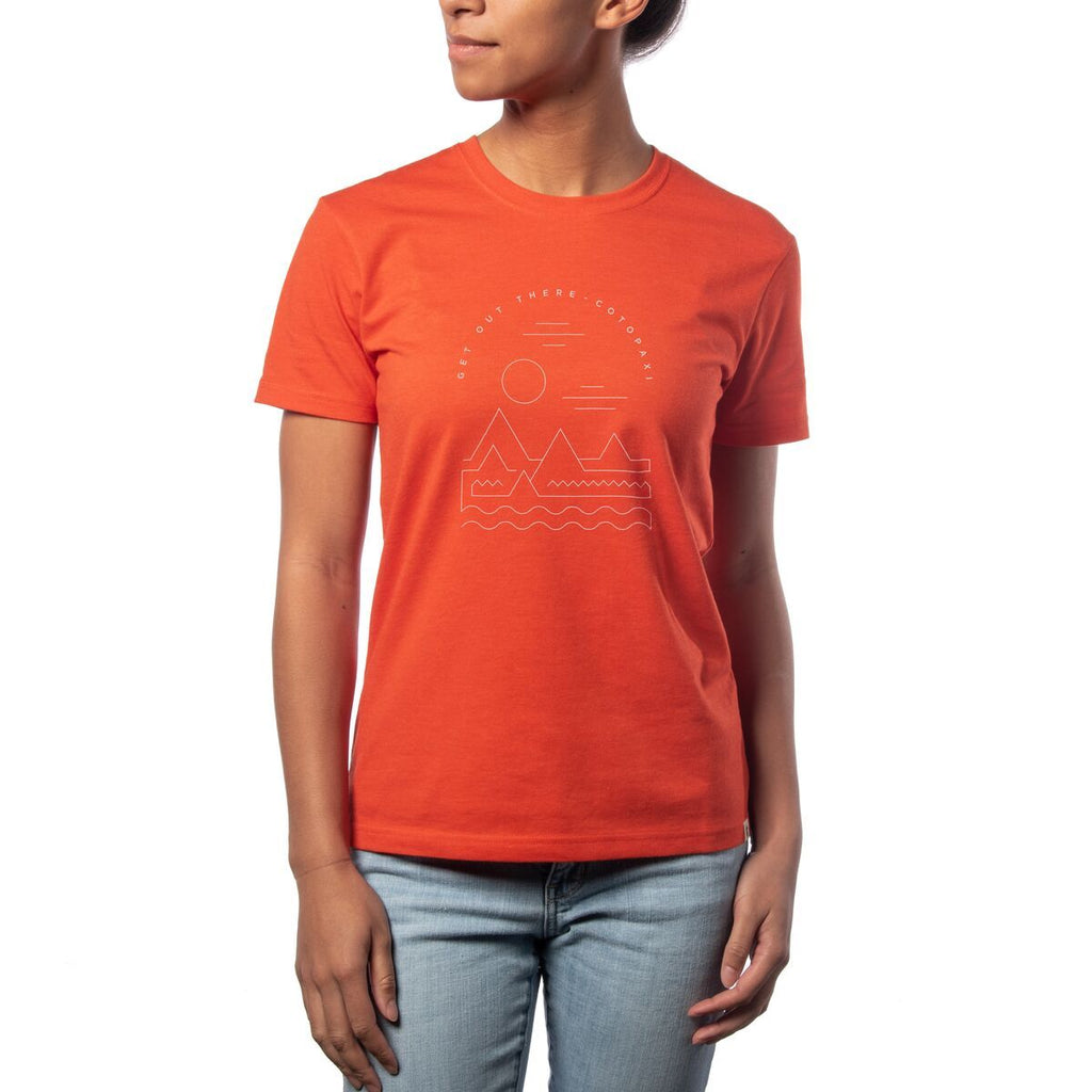 Get Out There Landscape T-Shirt - Women's, Detail Front