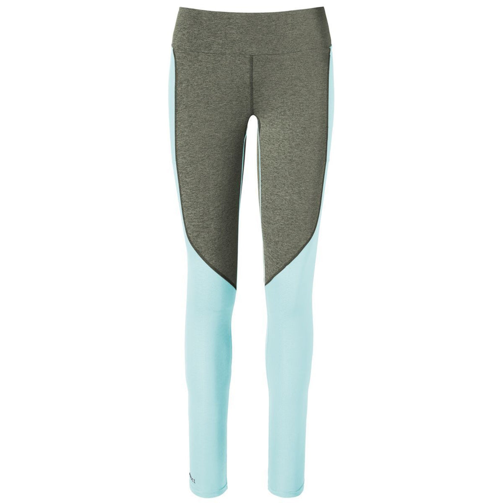 Wazimu Athletic Leggings - Women's, Cargo/Aqua, Front