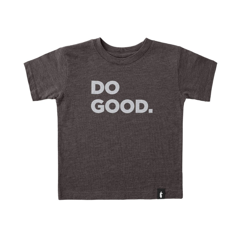 Do Good T-Shirt - Kids', Charcoal, Front