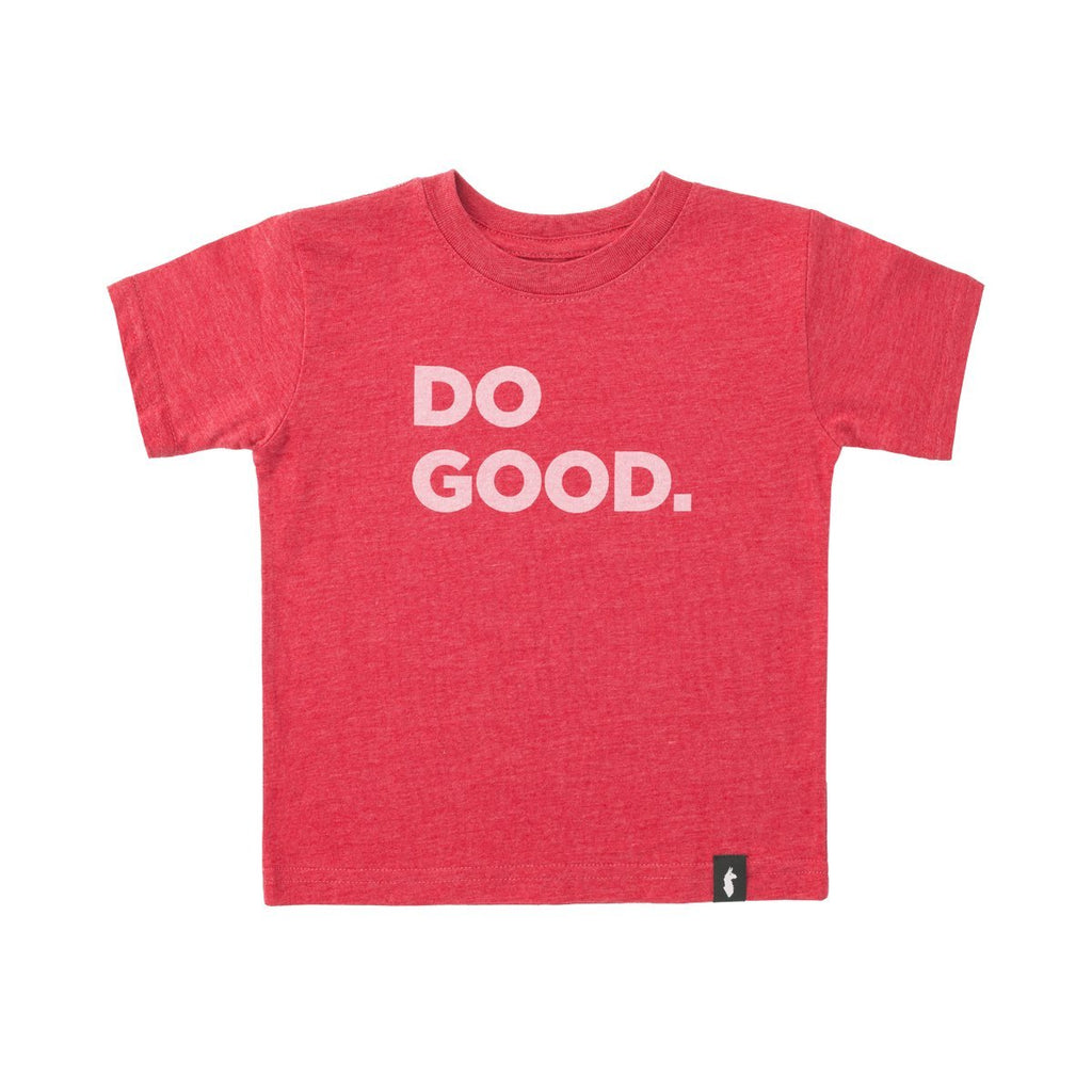 Do Good T-Shirt - Kids', Red, Front