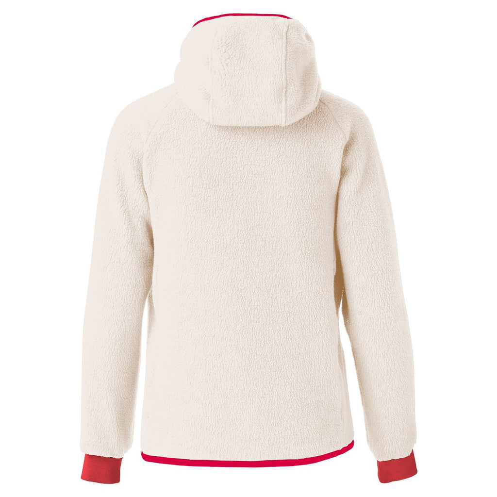 Cubre Full-Zip Fleece Jacket - Women's, Cream/Fiery Red, Back