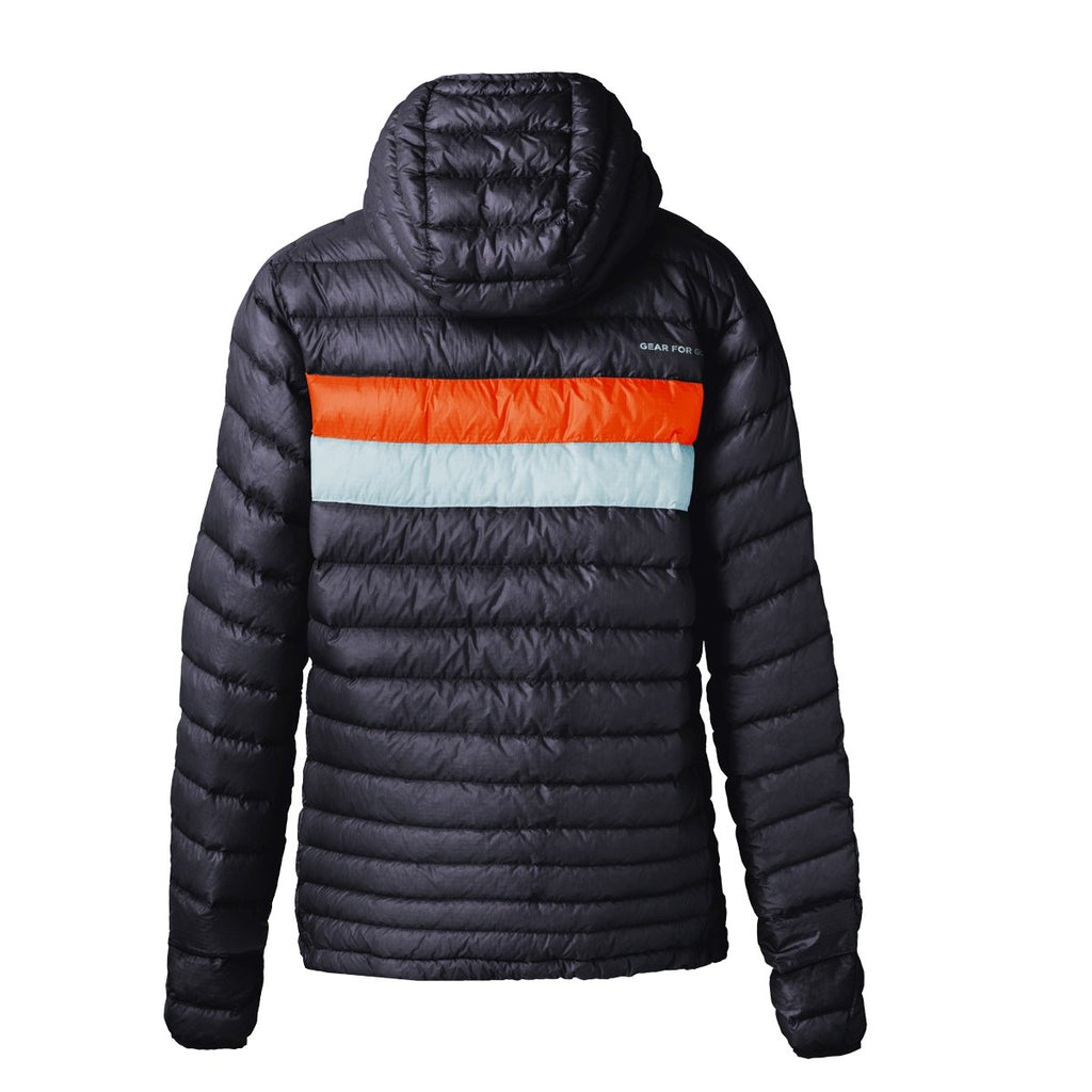 Fuego Down Jacket - Men's, Graphite (Tangerine/Aqua), Back