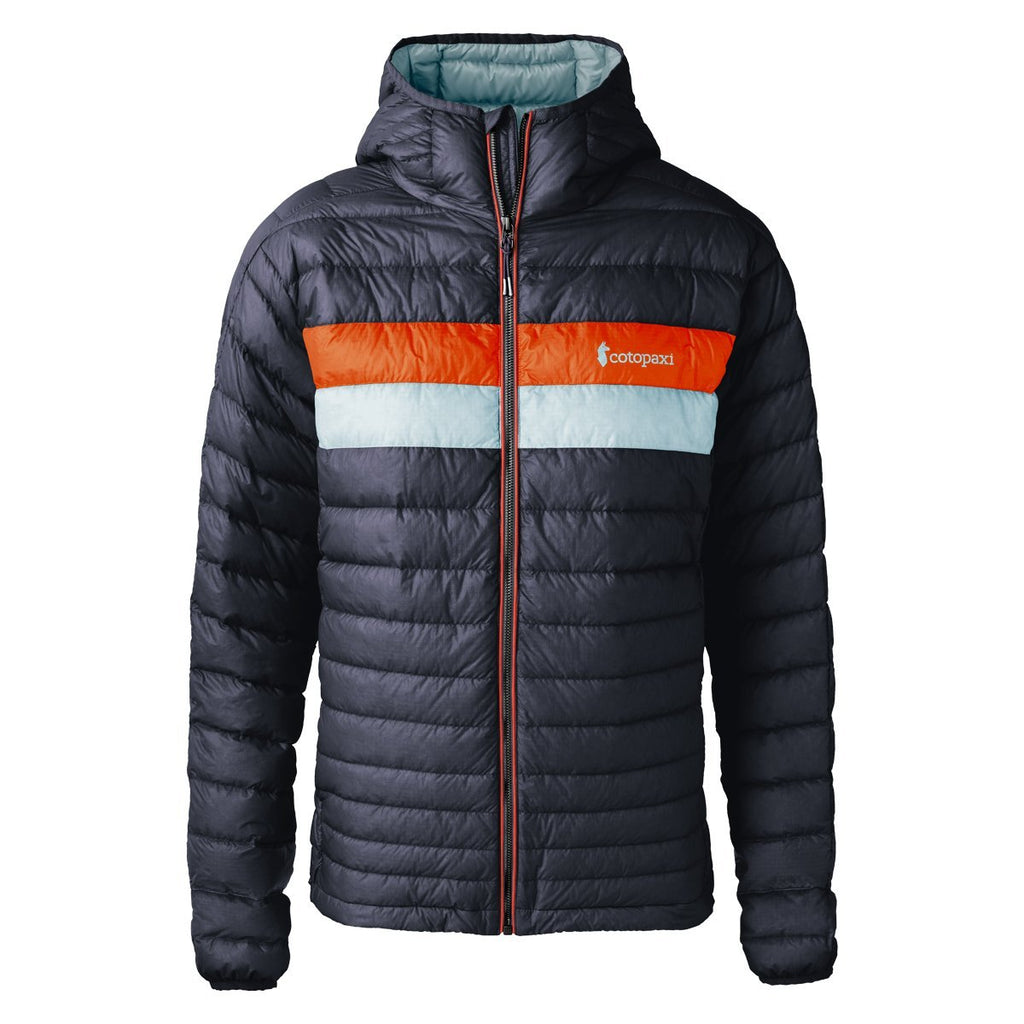 Fuego Down Jacket - Men's, Graphite (Tangerine/Aqua), Front