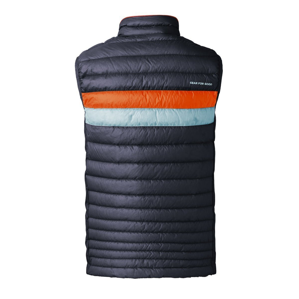 Fuego LT Down Vest - Men's - Sale, Graphite (Tangerine/Aqua), Back