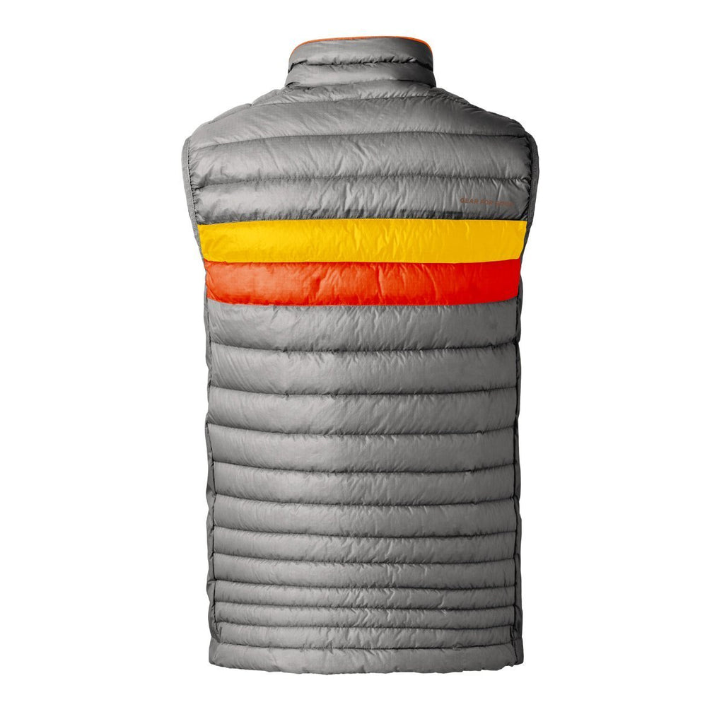 Fuego LT Down Vest - Men's - Sale, Shark (Sunset/Tangerine), Back