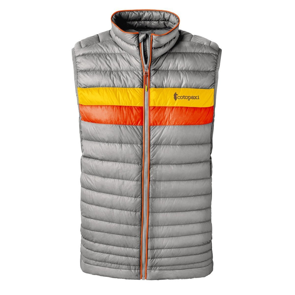 Fuego LT Down Vest - Men's - Sale, Shark (Sunset/Tangerine), Front