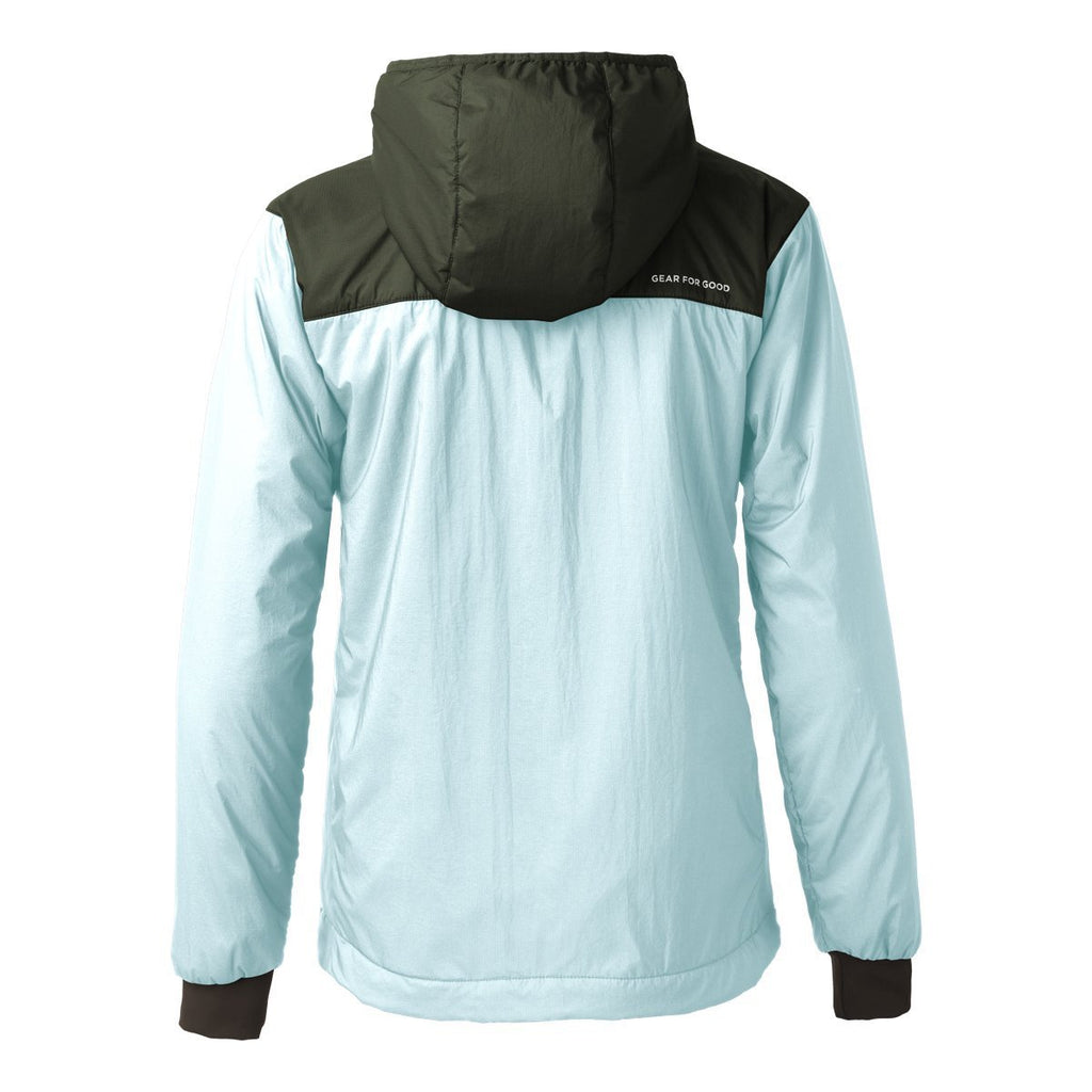 Pacaya Hooded Insulated Jacket - Women's - Sale, Aqua/Cargo, Back
