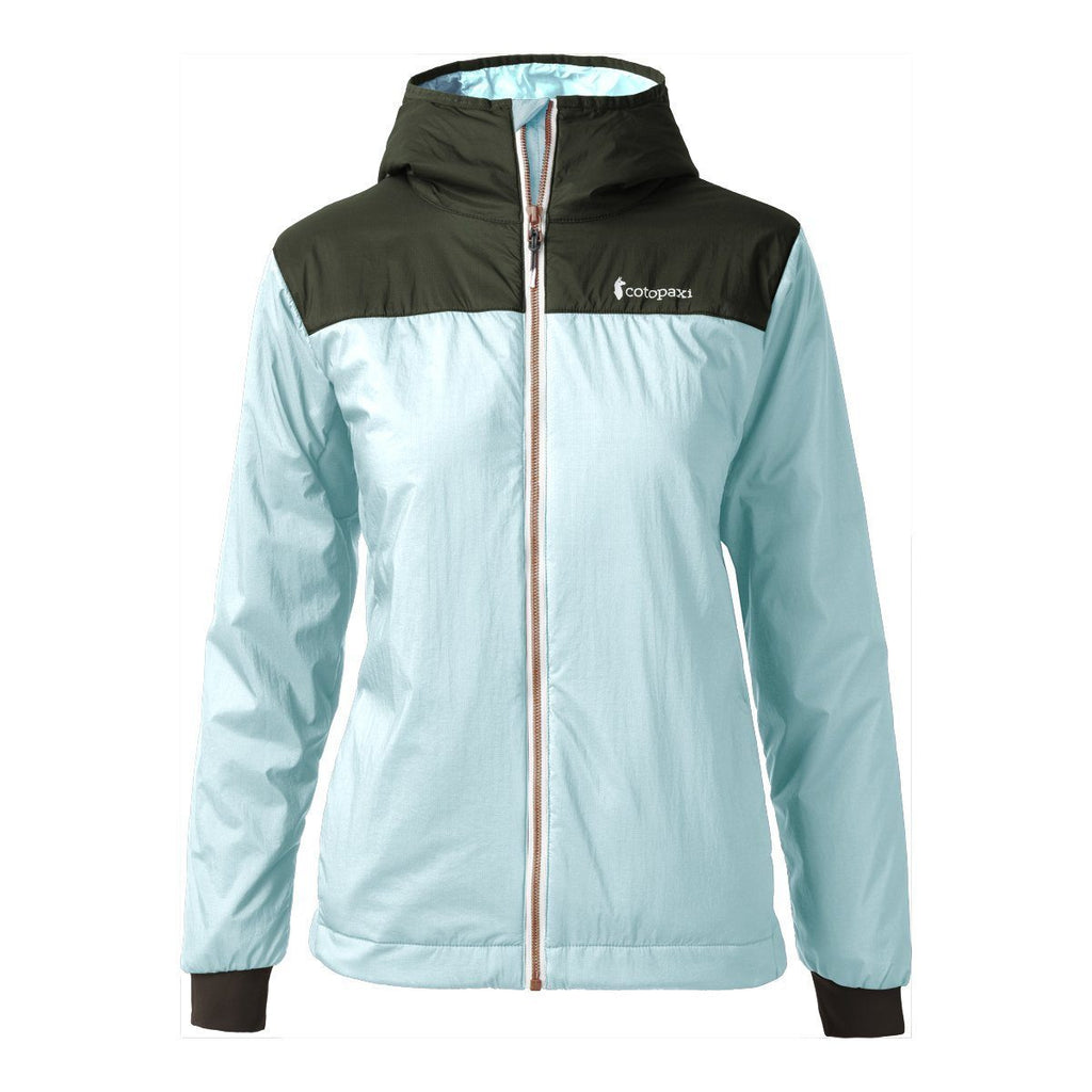 Pacaya Hooded Insulated Jacket - Women's - Sale, Aqua/Cargo, Front