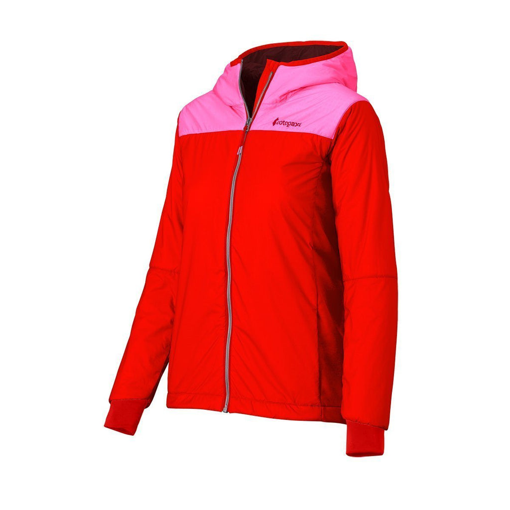 Pacaya Hooded Insulated Jacket - Women's - Sale, Bubble Gum/Fiery Red, Side Angle