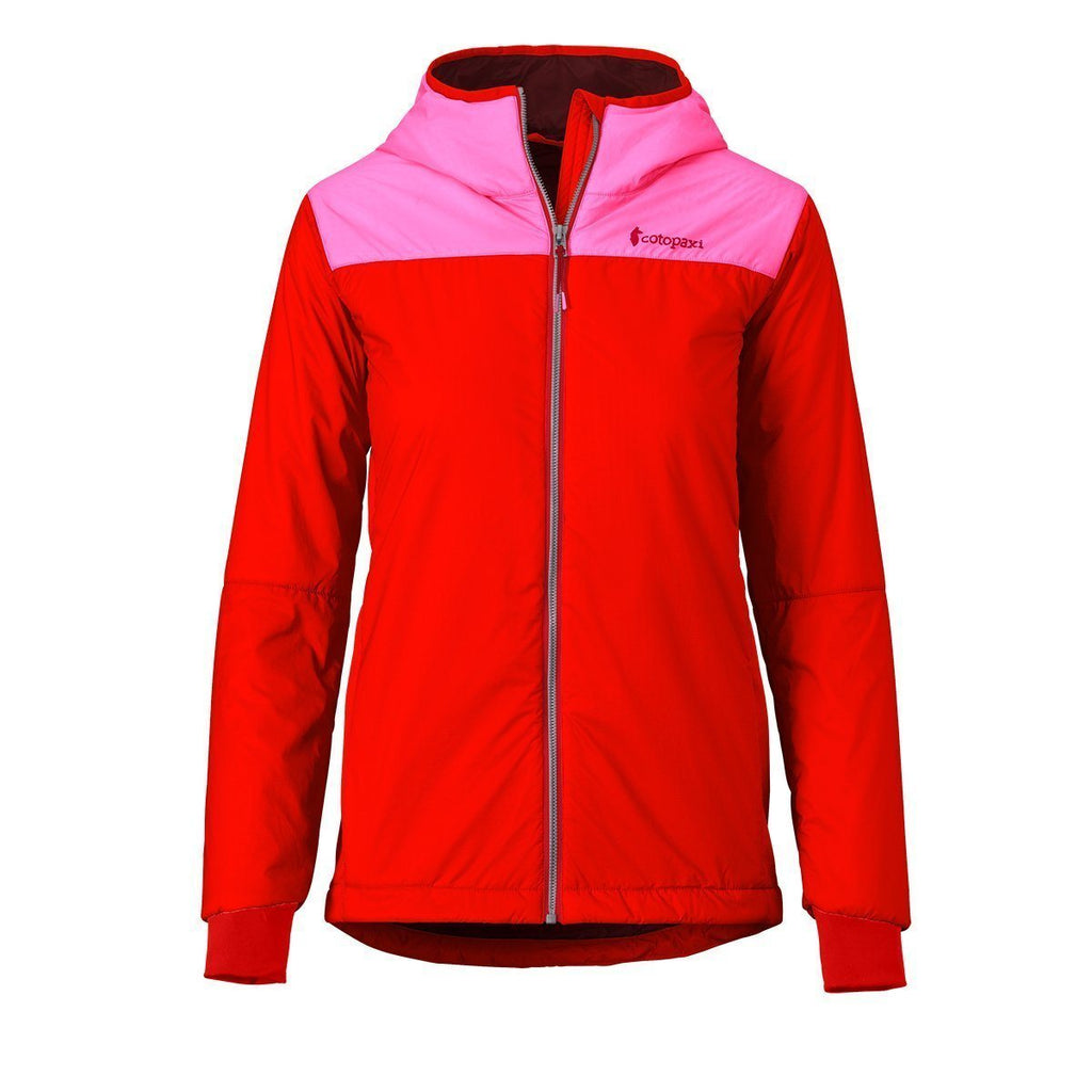 Pacaya Hooded Insulated Jacket - Women's - Sale, Bubble Gum/Fiery Red, Front