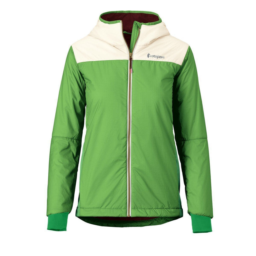 Pacaya Hooded Insulated Jacket - Women's - Sale, Grass/Cream, Front