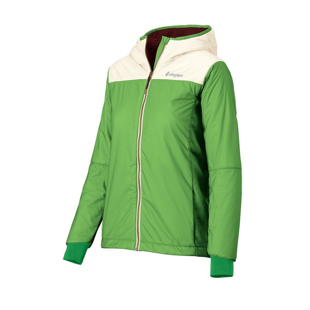 Pacaya Hooded Insulated Jacket - Women's - Sale, Grass/Cream, Side Angle