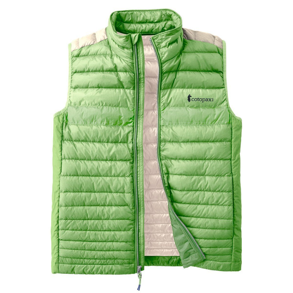 Fuego LT Down Vest - Men's - Sale, Grass/Cream, Front