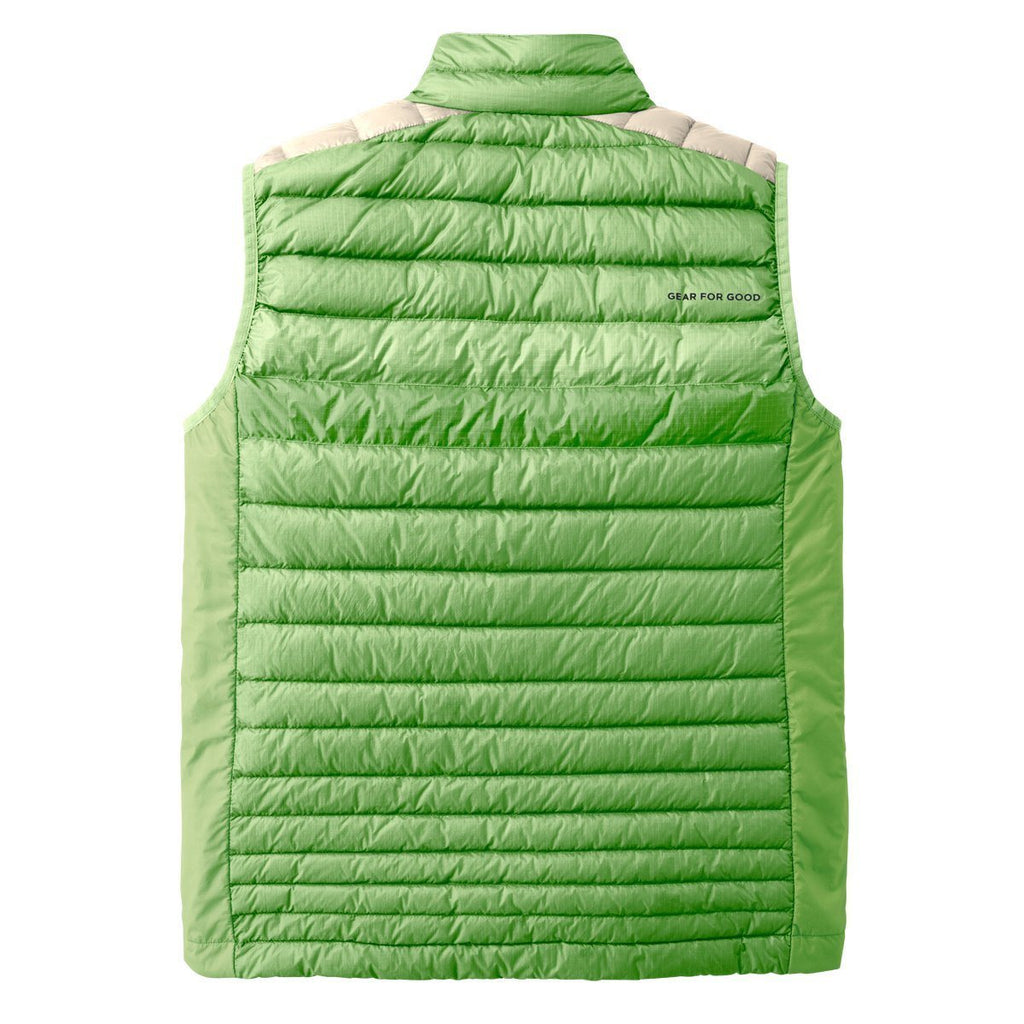 Fuego LT Down Vest - Men's - Sale, Grass/Cream, Back