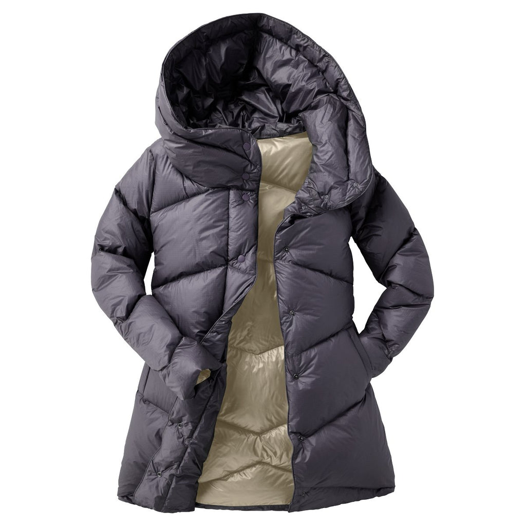 Nina Down Parka - Women's, Graphite, Front
