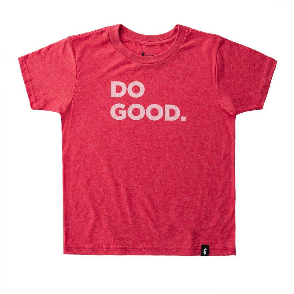 Do Good T-Shirt - Youth, Red, Front