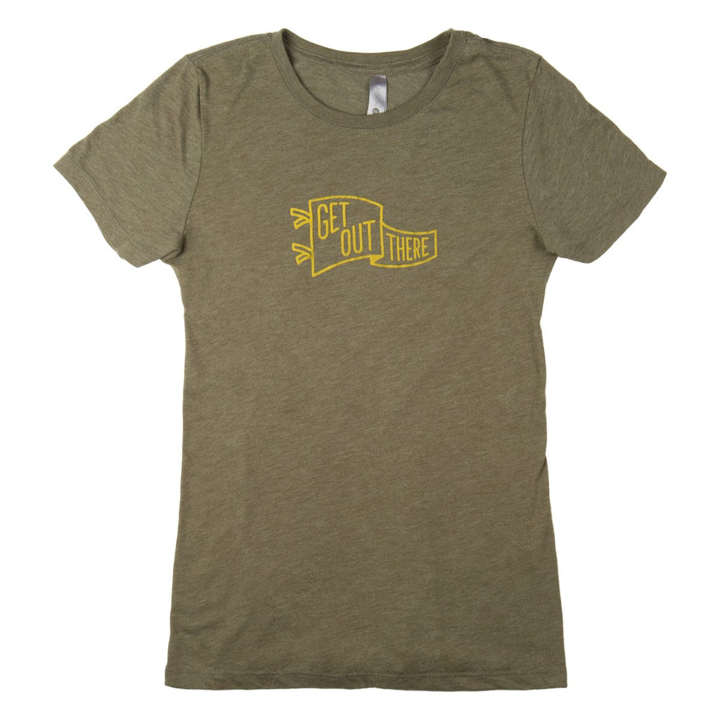 Get Out There Pennant T-Shirt - Women's