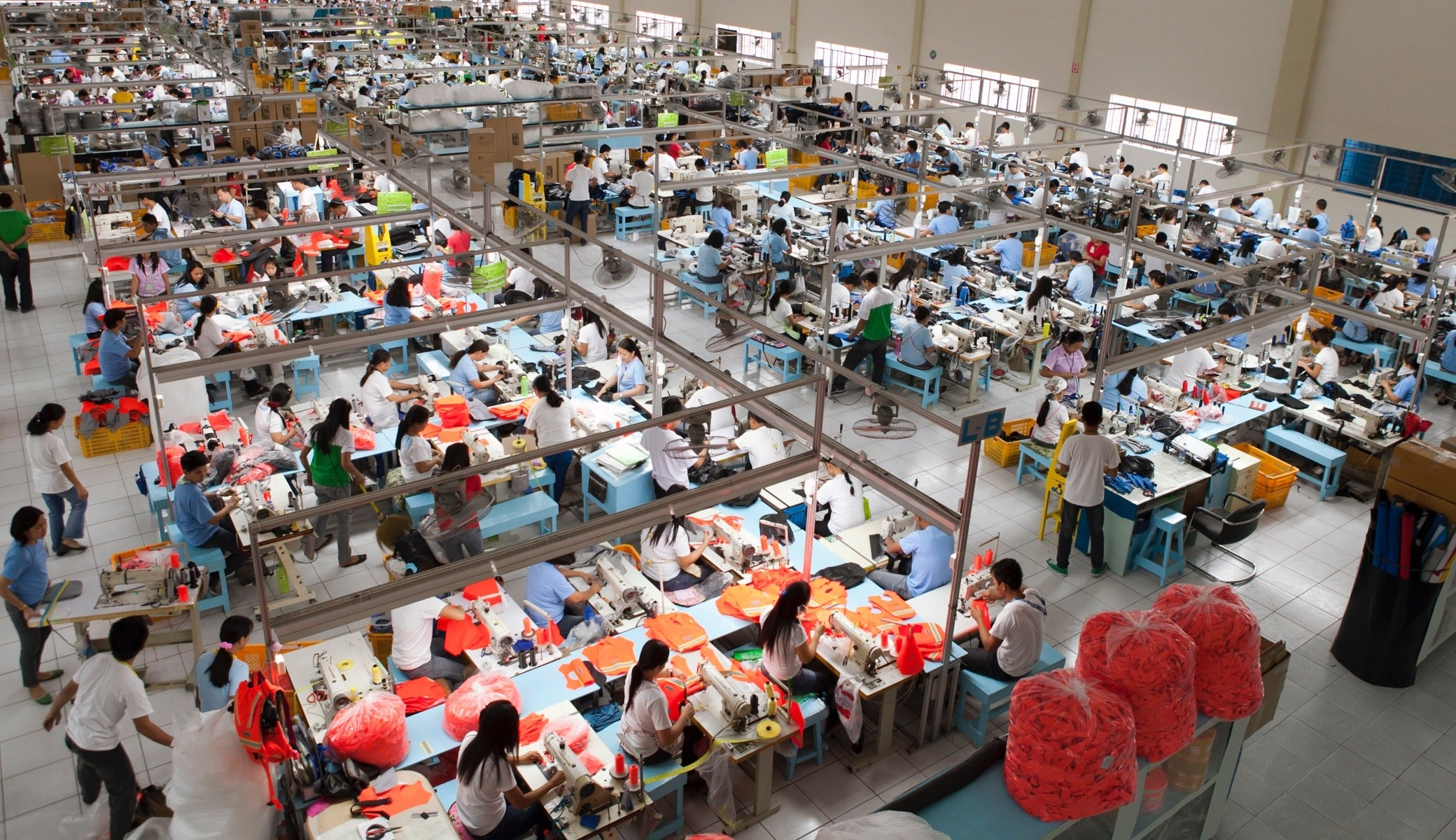 The factory floor in full swing at our factory in Bataan, Philippines.