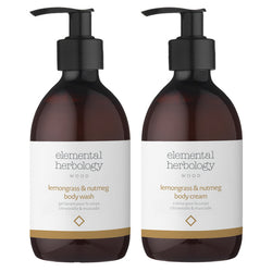 Lemongrass & Nutmeg Body Wash & Cream Duo