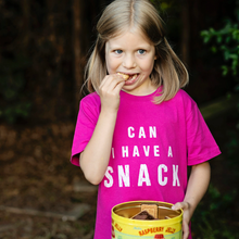 Load image into Gallery viewer, Can I Have A Snack Hot Pink Organic Kids Tee (bestseller!)