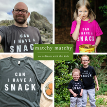 Load image into Gallery viewer, Can I Have A Snack Bright Blue Organic Kids Tee