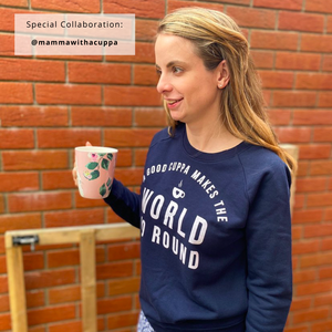 Cuppa Makes the World Go Round Organic Sweatshirt