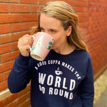 Load image into Gallery viewer, Cuppa Makes the World Go Round Organic Sweatshirt