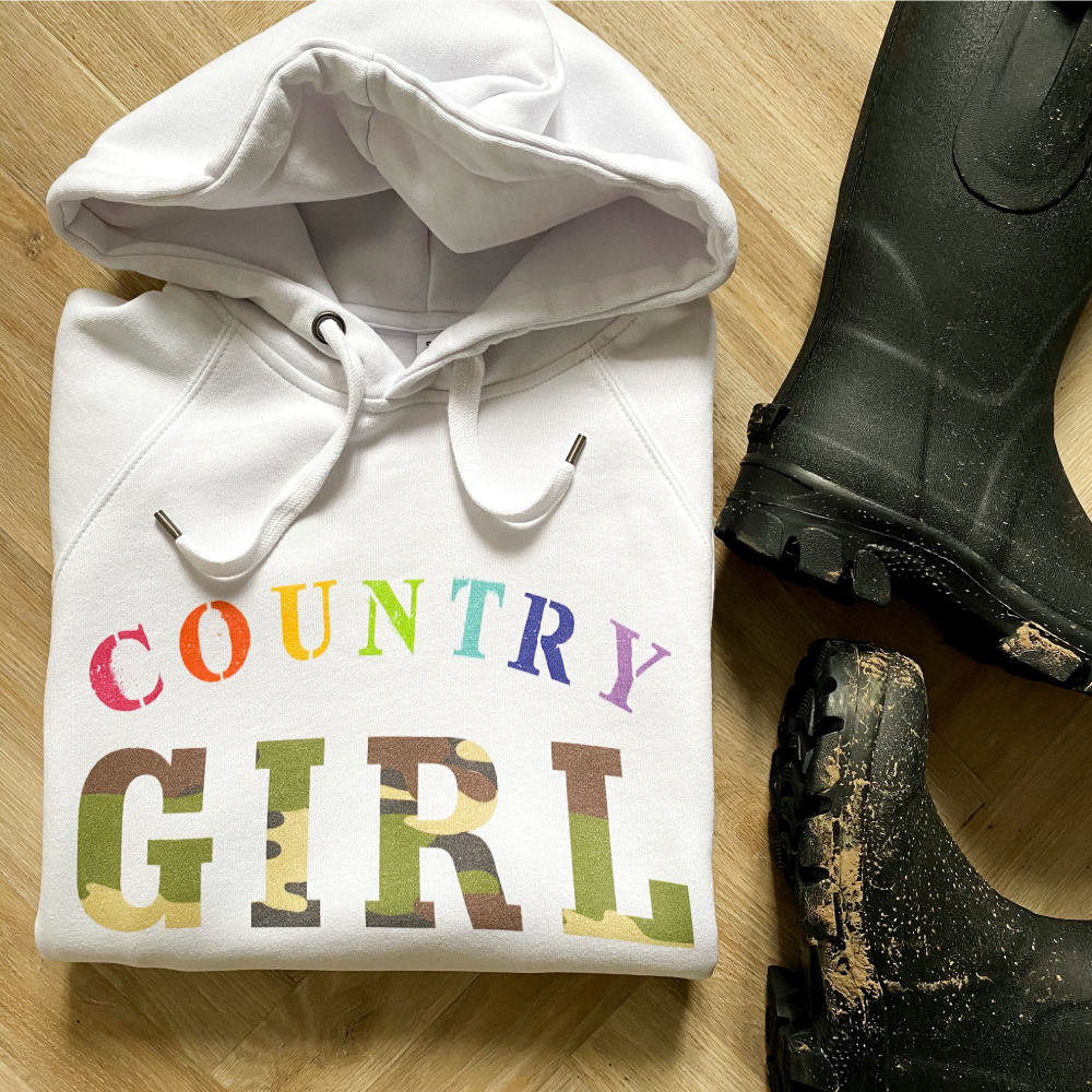 EXCLUSIVE Country Girl Cotton-Rich Hoodie
