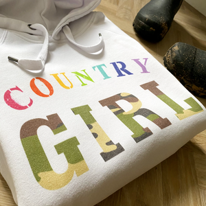 Country Girl White Hoodie