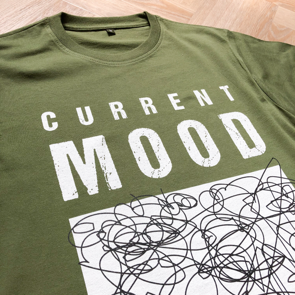 Current Mood Dusky Green Men's Organic Tee