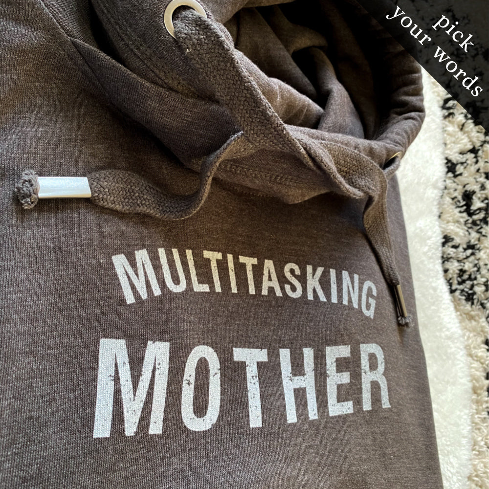 Custom Comfy Cowl Hoodie (pick your own words!)