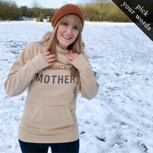 Load image into Gallery viewer, Custom Comfy Cowl Hoodie (pick your own words!)