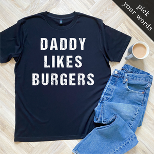 Custom Organic Tee (pick your own wording!) - MEN