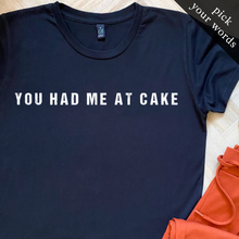 Load image into Gallery viewer, Custom Women's Tee with Block Print (pick your own wording!)