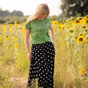 Five Minutes Leafy Green Organic Tee - WOMEN