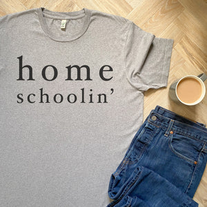 Homeschoolin' Men's/Unisex Organic Tee