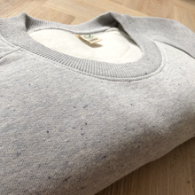 Load image into Gallery viewer, Custom Organic Sweatshirt with Handwritten Print (pick your own wording!)