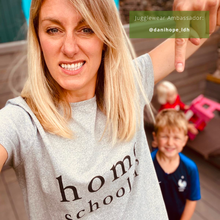Load image into Gallery viewer, Homeschoolin' Women's Organic Tee (bestseller!)