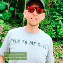 Load image into Gallery viewer, Talk To Me Goose Grey Marl Organic Tee - MEN