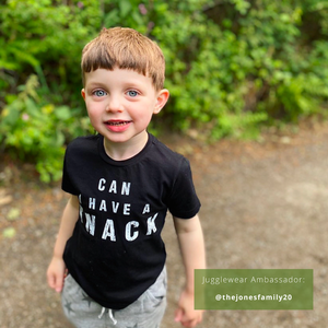 Can I Have A Snack Black Organic Kids Tee (bestseller!)