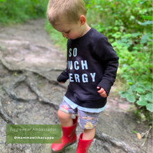 Load image into Gallery viewer, So Much Energy Black Organic Sweatshirt - KIDS