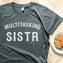 Load image into Gallery viewer, Exclusive Charity Multitasking sistr Organic Dark Grey Women's Tee