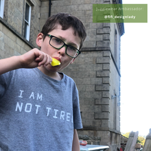 Load image into Gallery viewer, I Am Not Tired Grey Marl Organic Kids Tee