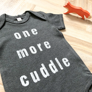 One More Cuddle Dark Grey Organic Bodysuit - BABY/TODDLER
